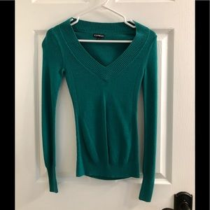 Express Long Sleeved Green Tee Size XS